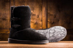 Image showing winter boots from different sides. Nice boots to keep feet warm in the winter.